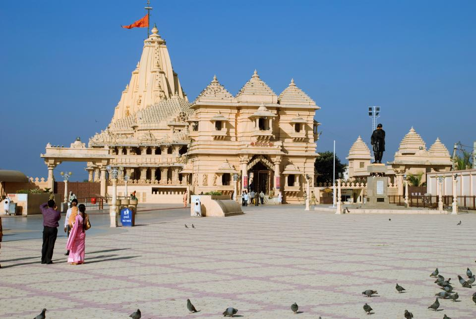 Somnath Temple. (Photo by: Rajeev Sachdeva/IndiaPictures/Universal Images Group via Getty Images)