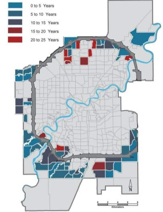 Canossa, Carlton, Eaux Claires, Fraser, Klarvatten and Terwillegar Towne have been waiting 20-25 years for developed parks.