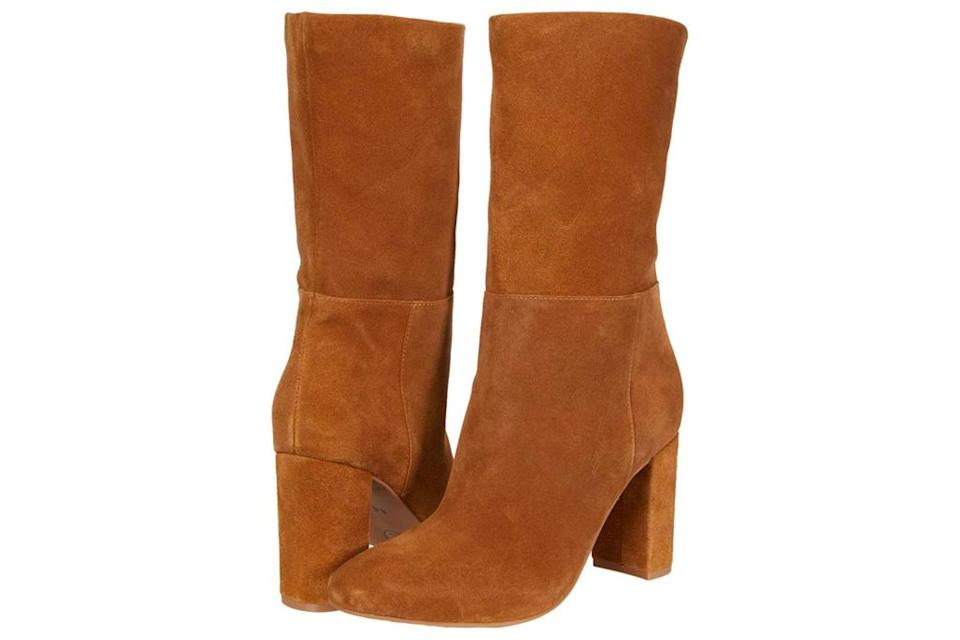 brown boots, suede, chinese laundry