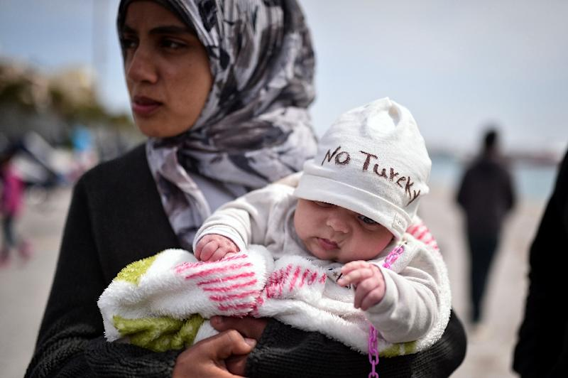 Turkey has made preparations to take in up to 500 migrants from Greece (AFP Photo/Louisa Gouliamaki)