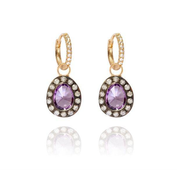 """<p><a class=""""link rapid-noclick-resp"""" href=""""https://go.redirectingat.com?id=127X1599956&url=https%3A%2F%2Fwww.annoushka.com%2Fuk%2Fdusty-diamonds-18ct-gold-amethyst-earrings-B029098.html&sref=https%3A%2F%2Fwww.townandcountrymag.com%2Fuk%2Fstyle%2Fjewellery%2Fg30674781%2Fbest-february-birthstone-jewellery%2F"""" rel=""""nofollow noopener"""" target=""""_blank"""" data-ylk=""""slk:SHOP NOW"""">SHOP NOW</a></p><p>Diamond-framed amethyst drops add a touch of glamour to these gold 'huggy' hoops. </p><p>Gold, amethyst and diamond earrings, £3,400, <a href=""""https://www.annoushka.com/uk"""" rel=""""nofollow noopener"""" target=""""_blank"""" data-ylk=""""slk:Annoushka"""" class=""""link rapid-noclick-resp"""">Annoushka</a>.</p>"""