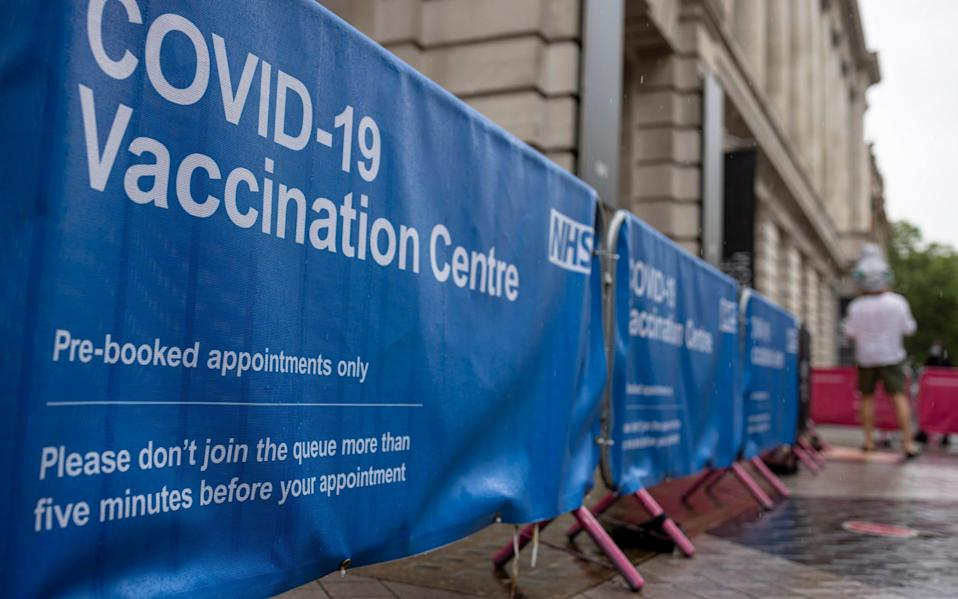 The vaccination centre at the Science Museum in Kensington, London - Rob Pinney/Getty