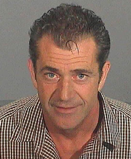 Mel Gibson This grainy snap of mad Mel was taken in 2006 after the 'Braveheart' star was arrested for drink driving.