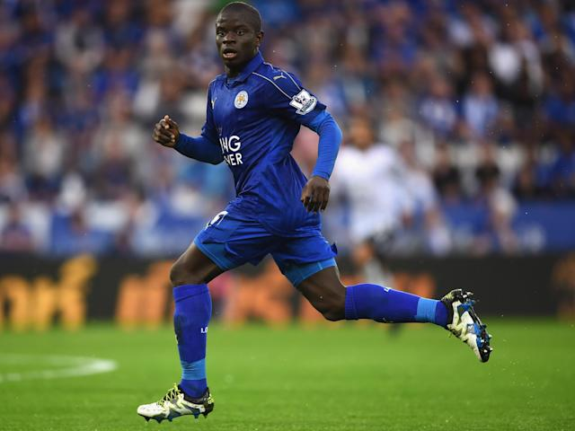 Kante was originally started as a left winger by Ranieri: Getty