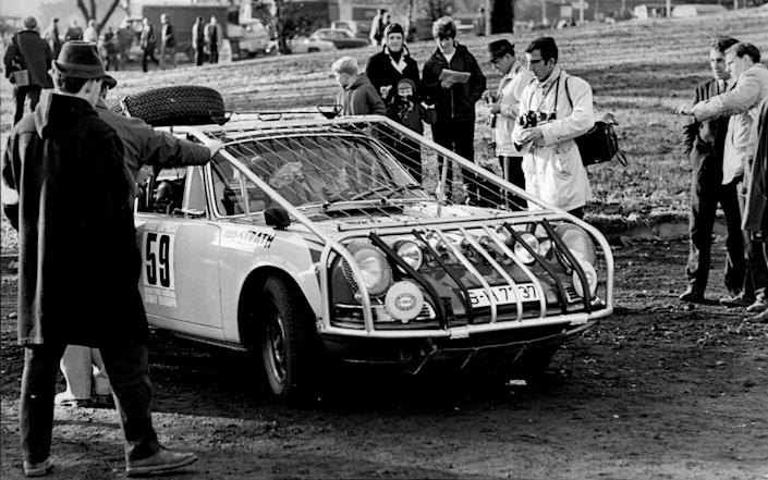 One of the fancied Citroen DS entries in the 1968 London To Sydney Rally - Michael Burnett/ANL/Shutterstock