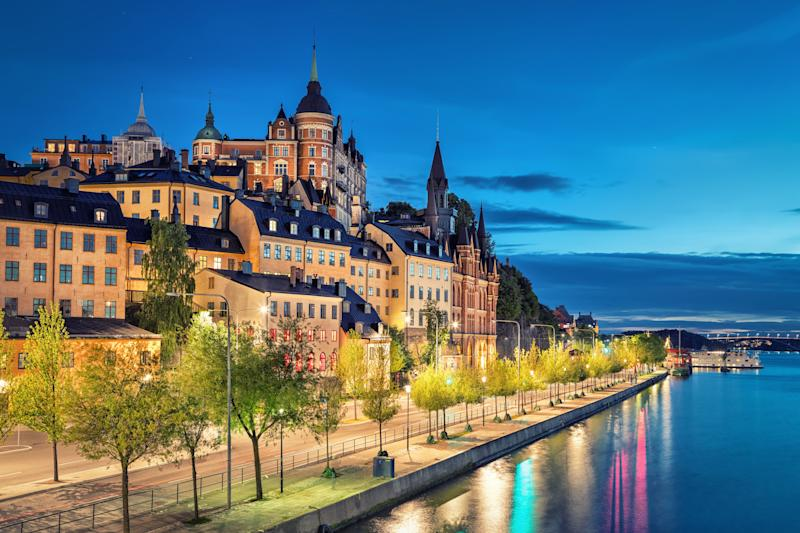 Old buildings in the Sodermalm district at dusk. (Photo: bbsferrari via Getty Images)