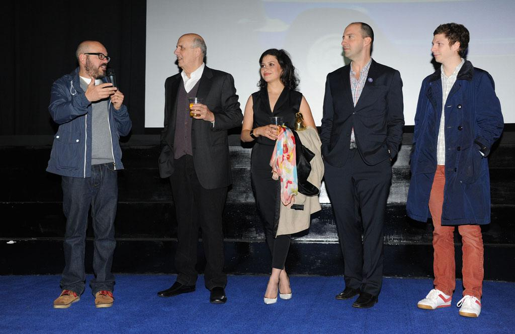 "David Cross, Jeffrey Tambor, Alia Shawkat, Tony Hale and Michael Cera attend the red carpet premiere for the launch of Netflix Original Series, ""Arrested Development,"" Season 4 on May 09, 2013 at Vue Leicester Square in London, England."