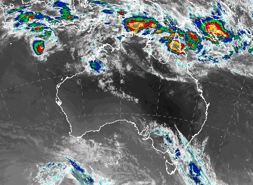 Tropical Cyclone Barrels Toward Australia's Queensland Coast