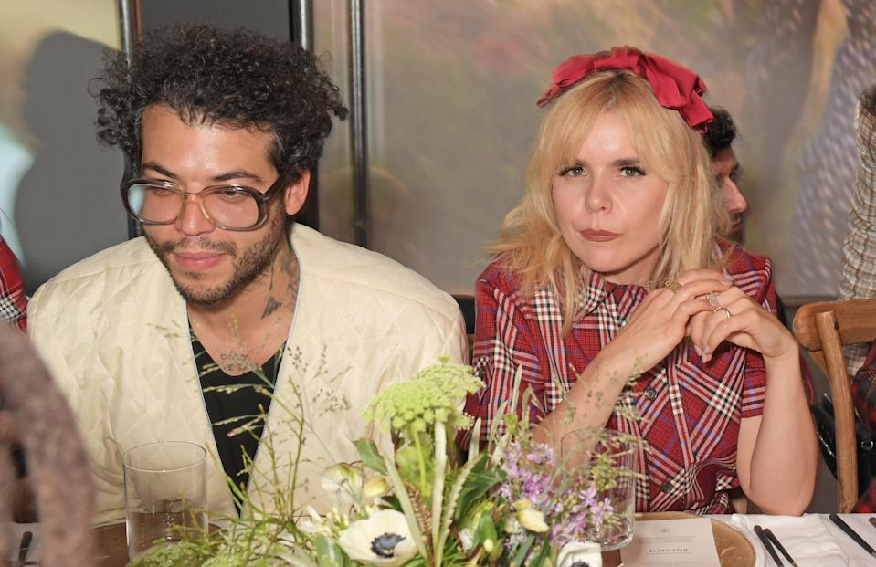 LONDON, ENGLAND - FEBRUARY 14:  Leyman Lahcine and Paloma Faith attend the Mulberry: Made to Last dinner on February 14, 2020 in London, England. (Photo by David M. Benett/Dave Benett/Getty Images for Mulberry)