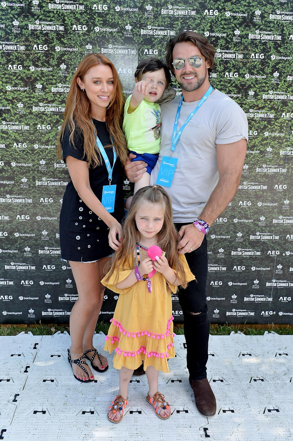 Una Healy and Ben Foden's children split their time between Ireland and the US. (Photo by Jeff Spicer/Getty Images)