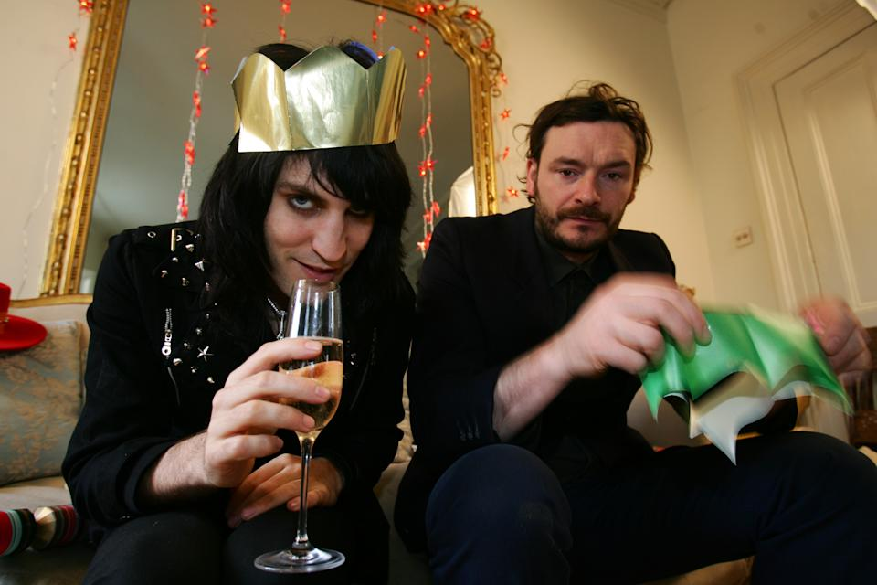 The Mighty Boosh, Comedians Noel Fielding & Julian Barratt photographed in London in 2005 (Photo by Andy Willsher/Redferns/Getty Images)