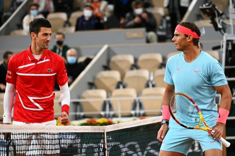 Not you again! Rafael Nadal and Novak Djokovic at the 2020 French Open final which Nadal won in straight sets