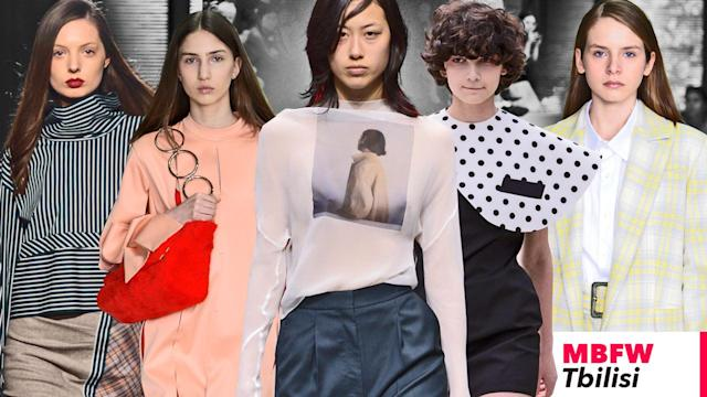 The top six breakout designers from the fall/winter 2018-2019 season of Fashion Week Tbilisi. (Photos: Courtesy of Mercedes-Benz Fashion Week Tbilisi; art: Quinn Lemmers for Yahoo Lifestyle)
