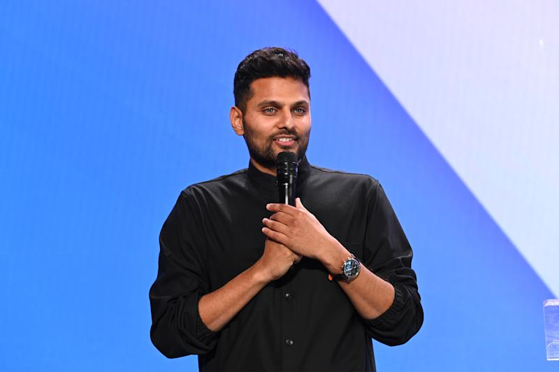 LOS ANGELES, CALIFORNIA - DECEMBER 09: Jay Shetty attends the 2019 Streamys Social Good Awards at YouTube Space LA on December 09, 2019 in Los Angeles, California. (Photo by Andrew Toth/Getty Images for Streamy Awards)