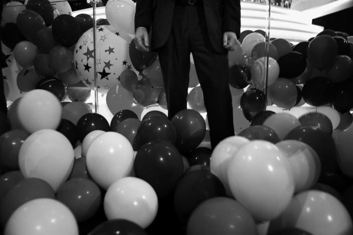 <p>A Secret Service Agent stands his post among the balloons after the conclusion of the RNC Convention in Cleveland, OH. on July 21, 2016. (Photo: Khue Bui for Yahoo News)</p>