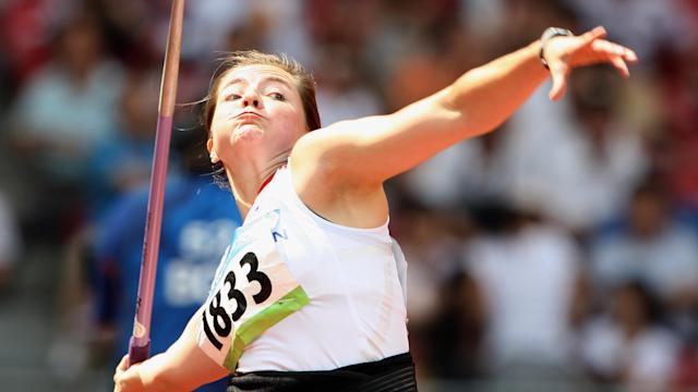 Having originally finished fourth in Beijing, Sayers was lifted to third when a reanalysis of doping samples saw Mariya Abakumova disqualified.