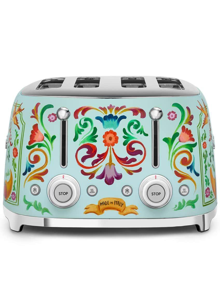"""<p><strong>Smeg</strong></p><p>bergdorfgoodman.com</p><p><strong>$950.00</strong></p><p><a href=""""https://go.redirectingat.com?id=74968X1596630&url=https%3A%2F%2Fwww.bergdorfgoodman.com%2Fp%2Fsmeg-dolce-gabbana-x-smeg-4-slot-toaster-prod155610001&sref=https%3A%2F%2Fwww.harpersbazaar.com%2Fwedding%2Fplanning%2Fg7719%2Funique-wedding-gift-ideas%2F"""" rel=""""nofollow noopener"""" target=""""_blank"""" data-ylk=""""slk:SHOP NOW"""" class=""""link rapid-noclick-resp"""">SHOP NOW</a></p><p>Sure, the couple may have registered for a 4-slice toaster, but if it's in line with their at-home aesthetic, this designer version will dress up their countertops in ways they weren't expecting. </p>"""