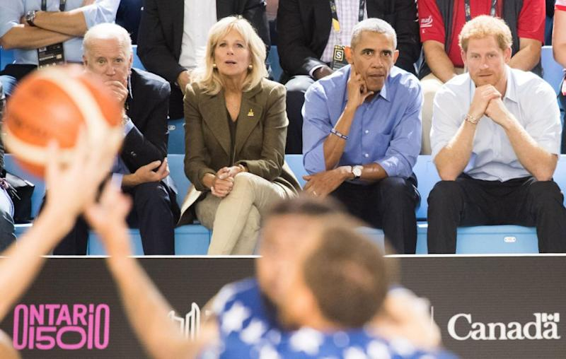 They were spotted sitting next to each other courtside at the Invictus Games in Toronto on Friday, to watch the American wheelchair basketball team. Source: Getty