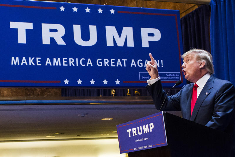 Donald Trump announces his candidacy for the presidency on June 16, 2015.