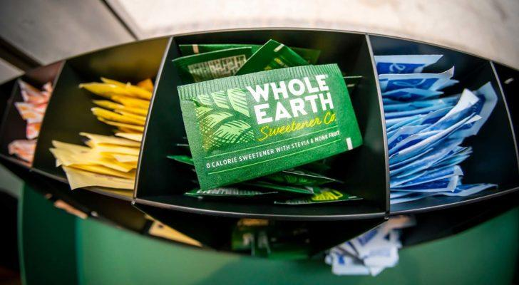 Whole Earth Sweetener packets from Whole Earth Brands (FREE).