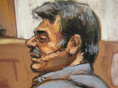 Courtroom sketch of Manssor Arbabsiar