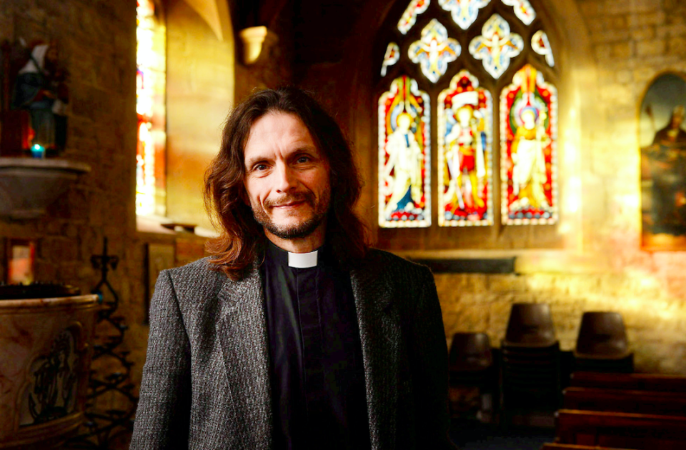 Reverend Nick Bromfield said he became fed up with poltergeist punters stopping in the yard of St Mary's Church (SWNS)