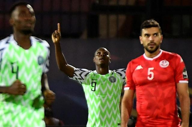 Odion Ighalo's winner against Tunisia in the Africa Cup of Nations third place playoff sealed him the Golden Boot (AFP Photo/Khaled DESOUKI)
