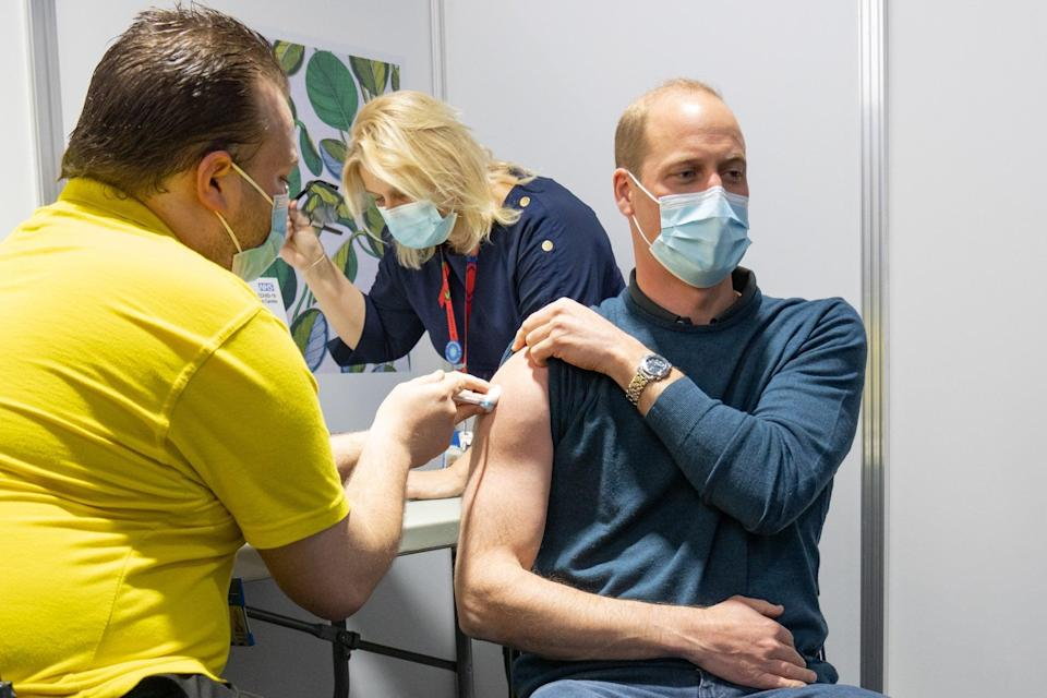 Prince William received his vaccine earlier this month (Kensington Palace)