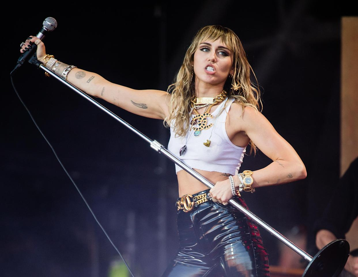 Miley Cyrus's sister reveals their 'crazy' flight to Glastonbury