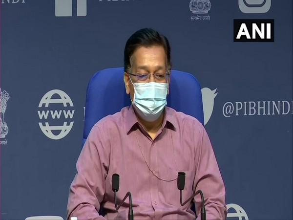 Rajesh Bhushan, Secretary, Union Health Ministry during a press conference in New Delhi on Tuesday. (Photo/ANI)