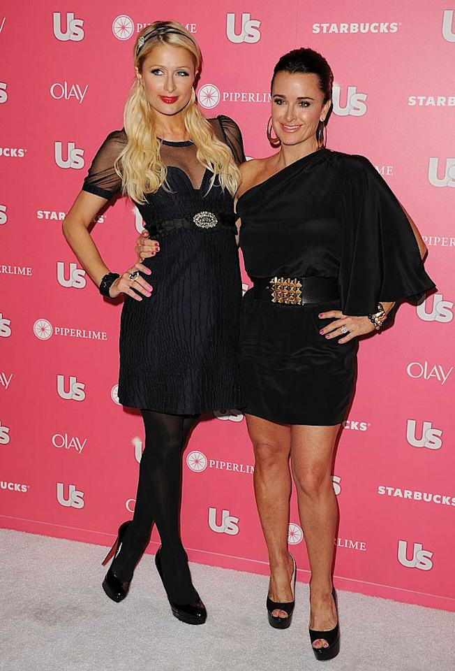 """<i>Us Weekly</i> celebrated the release of its """"Hot Hollywood Style"""" issue with a star-studded party at trendy L.A. club Eden on Tuesday night. According to reports, Paris Hilton and her aunt -- """"Real Housewives of Beverly Hills"""" star Kyle Richards -- got down on the dance floor! Jason Merritt/<a href=""""http://www.gettyimages.com/"""" target=""""new"""">GettyImages.com</a> - April 26, 2011"""