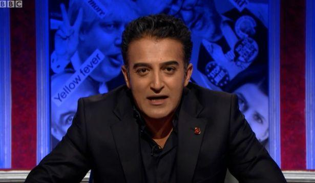 Adil Ray on Have I Got News For You (Photo: BBC)