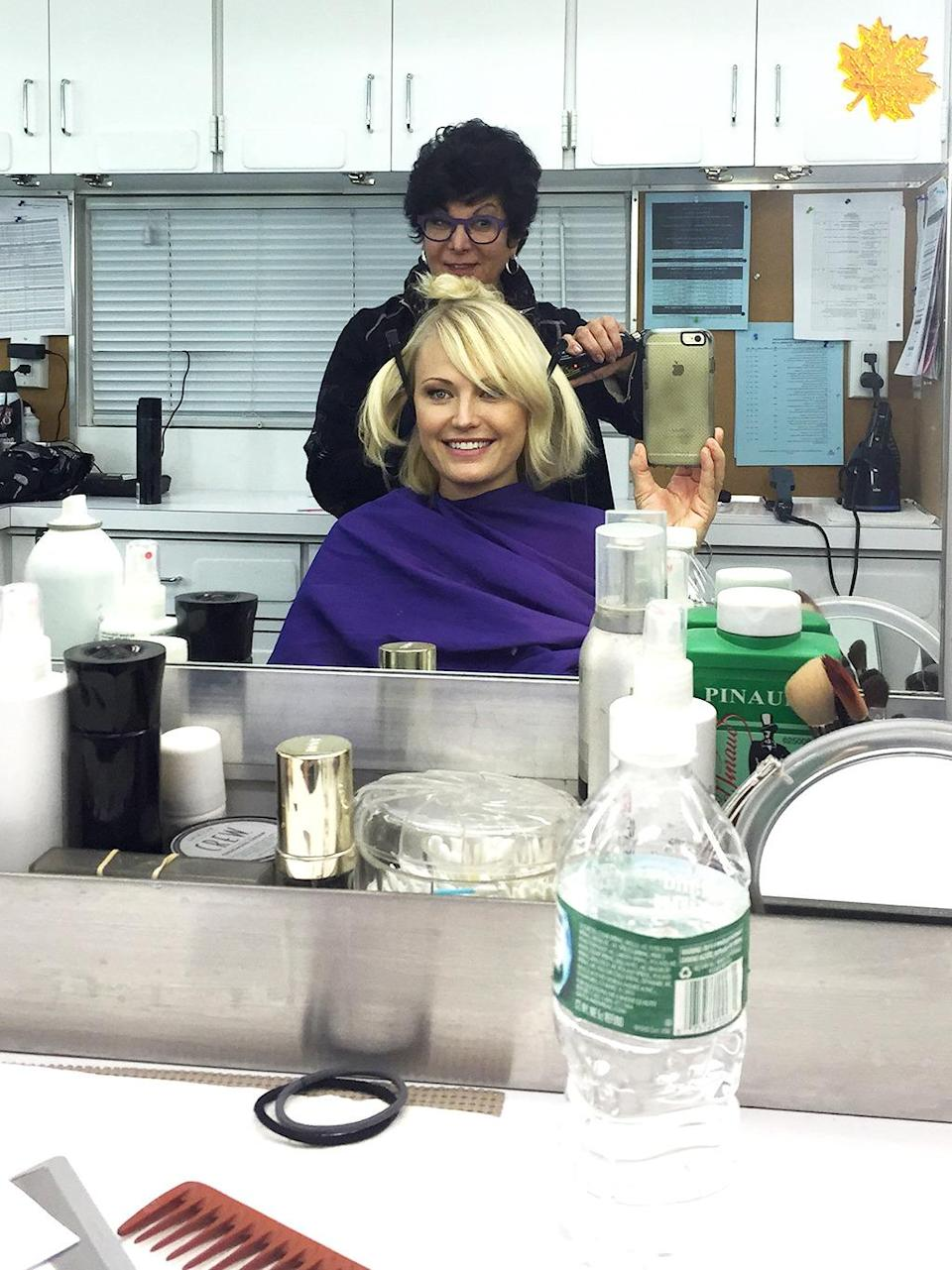 """<p>Magician number two, Francesca Paris. Pippi Longstocking? This broad is one hot tamale and one helluva hairdresser! #billions — <a href=""""https://www.instagram.com/therealmalinakerman/"""" rel=""""nofollow noopener"""" target=""""_blank"""" data-ylk=""""slk:@therealmalinakerman"""" class=""""link rapid-noclick-resp"""">@therealmalinakerman</a></p><p><i>(Credit: Instagram)</i><br></p>"""