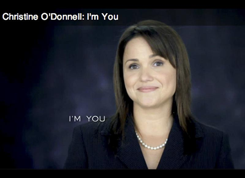 """I'm not a witch...I'm you."" &mdash;Christine O'Donnell, in a 30-second ad responding to a <a href=""http://www.huffingtonpost.com/2010/09/18/odonnell-witchcraft-politically-incorrect_n_722035.html "" target=""_hplink"">video clip</a> from a 1999 appearance on Bill Maher's ""Politically Incorrect,""</a> in which she said, ""I dabbled into witchcraft &mdash; I never joined a coven. But I did, I did... I dabbled into witchcraft. I hung around people who were doing these things. I'm not making this stuff up. I know what they told me they do... One of my first dates with a witch was on a satanic altar, and I didn't know it. I mean, there's little blood there and stuff like that. We went to a movie and then had a midnight picnic on a satanic altar."" (<a href=""http://www.huffingtonpost.com/2010/10/04/christine-odonnell-witch-ad_n_750140.html"" target=""_hplink"">Source</a>)"