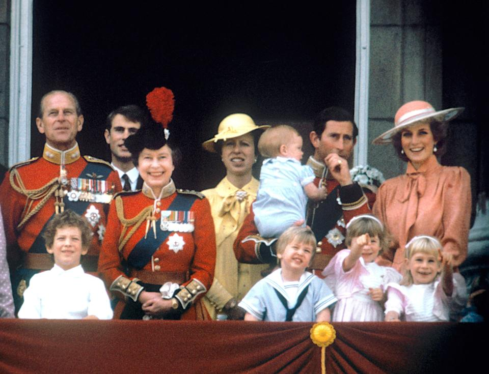On the balcony of Buckingham Palace  to watch the fly past in 1985PA