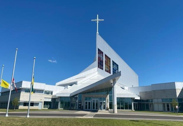Saskatoon Catholics raised $28.5 million to build this cathedral in 2012, while a written promise to compensate residential school survivors was largely ignored, critics say. The story was similar across Canada. (Jason Warick/CBC - image credit)
