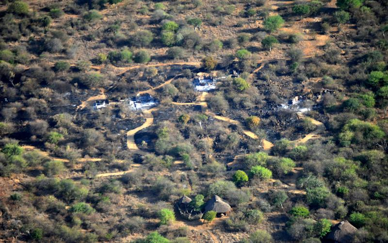Lodges in Suyian ranch in Laikipia previously burnt down by intruders - Credit: Riccardo Gangale