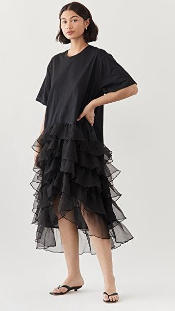 """<br><br><strong>Cynthia Rowley</strong> Tee Jersey Organza Ruffle Dress, $, available at <a href=""""https://go.skimresources.com/?id=30283X879131&url=https%3A%2F%2Fwww.shopbop.com%2Ftee-jersey-organza-ruffle-dress%2Fvp%2Fv%3D1%2F1509117627.htm"""" rel=""""nofollow noopener"""" target=""""_blank"""" data-ylk=""""slk:Shopbop"""" class=""""link rapid-noclick-resp"""">Shopbop</a>"""