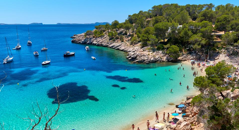 Cala Salada lagoon in Ibiza, Spain (Getty)