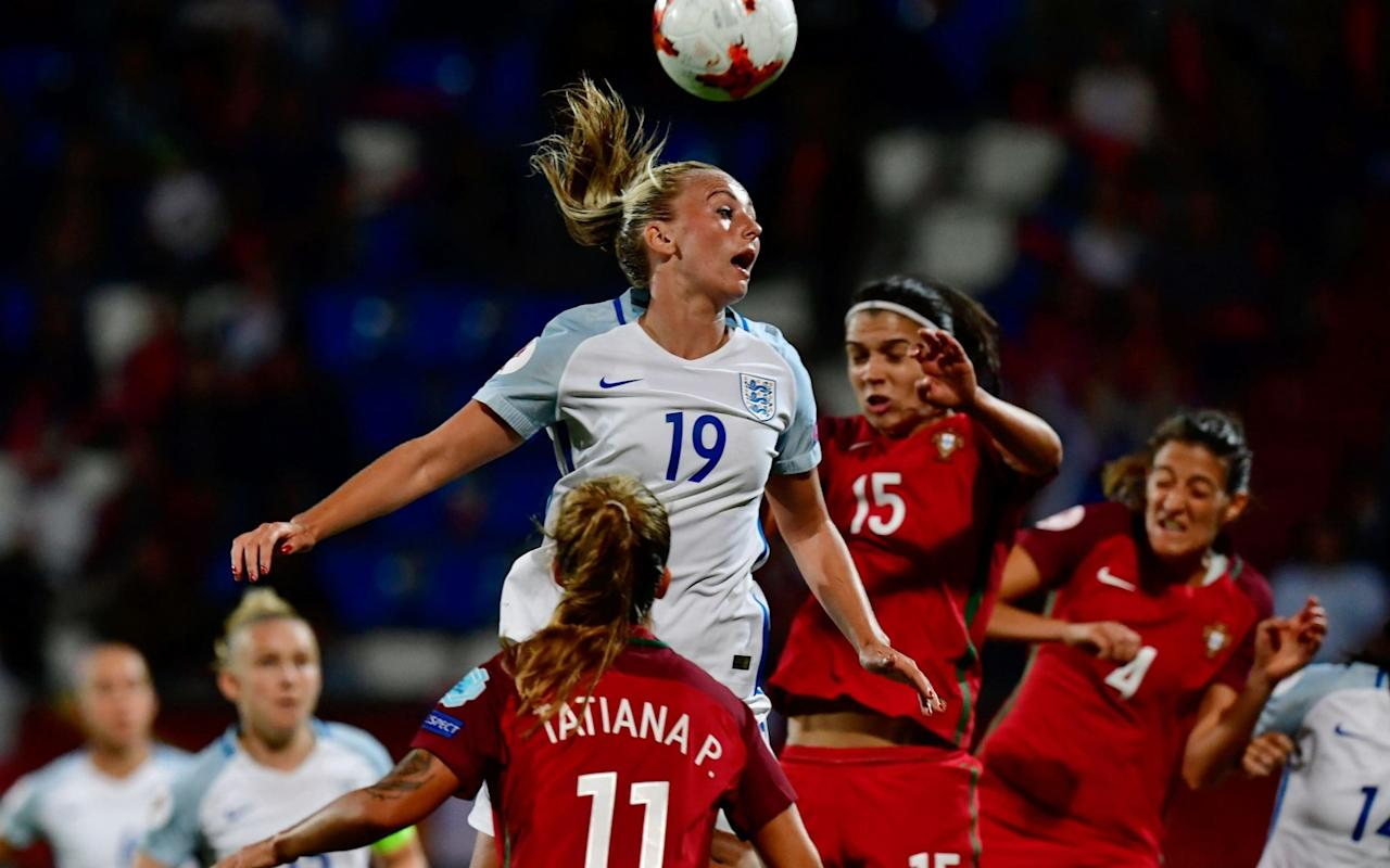 """France have already started to taunt England ahead of their quarter-final clash, even though the Lionesses warmed up for Sunday's meeting by making it three wins out of three with victory over Portugal. When France managerOlivier Echouafni declaredEngland""""did not want to face us""""in the last eight of the European Championships, he knew exactly what he was doing. England have not beaten France since 1974, so why not play on their insecurities. Echouafni went on to add that""""nothing would stop""""his players from progressing into the semi-finals, which is about as dismissive as you can be about the threat England pose. The fuse was lit. """"He's wet around the ears when it comes to tournament football,""""retorted England manager Mark Sampson. What is it? Played three, won one. My record is played 11, won 9. He'll learn who to take on or not to. Duggan said after the game that she's chasing Jodie Taylor's goal tally Credit: AFP """"We're an experienced team, I'm an experienced manager. The game isn't played in the press conference room, lucky for them.We have three wins under our belt, France have one win under their belt. """"We go into the knockout phase with momentum and we know we've got more to give. We will work out a way to beat France. Congratulations to them for finishing second in their group. We finished top. """"It's a great challenge to play France because we want to win this tournament by beating all the best teams. We are fully aware of what they will bring. We're confident."""" England will argue they are a far better team than they were when France beat them 3-0 in this tournament four years ago, but Echouafni will point out his team also beat them 2-1 in March. England made 10 changes for the win over Portugal Credit: AFP Such is the confidence within the camp, England will still believe they are good enough to reach the latter stages of the tournament. France, though, are their bogey team. It sets up a fascinating tussle for a place in the semi-final. As hard as they migh"""