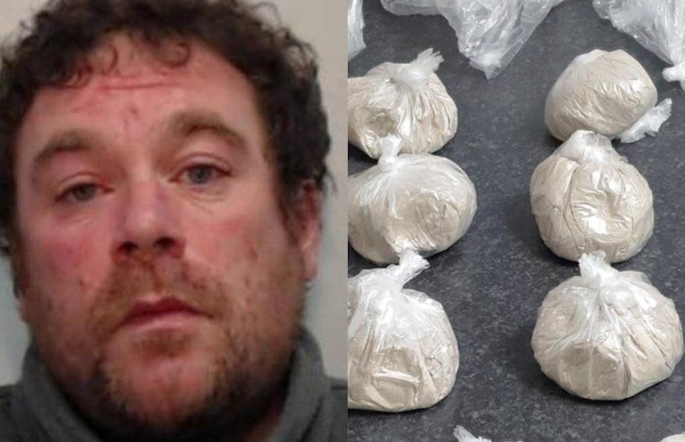 Paul Green, 38, was found with £60,000 worth of drugs in Wigan. (BTP)