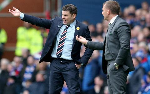 """Graeme Murty had hoped for a week free of distractions as his Rangers players prepared for Sunday's collision with Celtic in the semi-final of the William Hill Scottish Cup. Instead, he found himself answering questions about his own status following a letter from the Ibrox chairman, Dave King, to season-ticket holders, plus a broken agreement with Hamburg to hold back news that centre-back David Bates would join the Bundesliga club in the summer because Rangers could not match their wage offer. King's letter stated the need for """"immediate success"""" from """"whoever is appointed"""" as manager for next season, wording that was criticised by David Weir, formerly assistant manager at Ibrox under Mark Warburton and also a Rangers player between 2007 and 2012. """"I'm sure his press conference this week will be different to the one that he really wanted to be giving,"""" Weir said of Murty. Sure enough, the manager was pressed about both developments when he performed his media duties. """"I have wanted to come here and talk to you about the week we have had but there are other issues you want to talk about and I respect that,"""" Murty said. Graeme Murty goes head to head with Brendan Rodgers this weekend Credit: PA """"I can't control David going to Hamburg and then them announcing that, I can't control anything else that's been released. I can control what we do on the training pitch. From my point of view, the players have focused really well, concentrated really well. """"They understand it is a difficult game but they feel it is a game they can win and I agree with them wholeheartedly."""" The customarily even-tempered Murty expressed irritation at Hamburg's handling of Bates' move to Germany. """"We, as a club, would have been better served if we had waited until after the semi-final to have that out in the public domain. That is what we asked for,"""" he said. """"Unfortunately, the people we are dealing with did not respect that and we have to deal with these questions now rather than dealing with"""