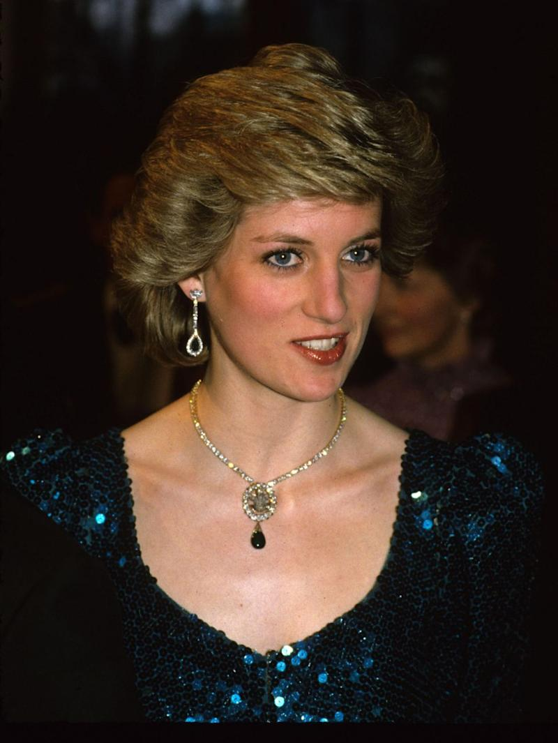 Princess Diana was gifted the Prince of Wales Feathers Brooch when she became engaged to Prince Charles in 1981. Photo: Getty Images