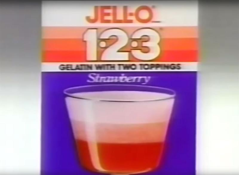 still from jell-o 123 TV commercial