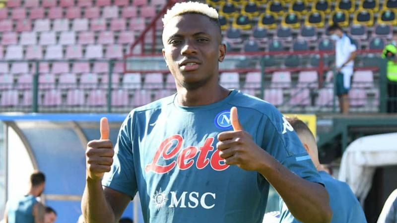 Osimhen completes first training session with Napoli