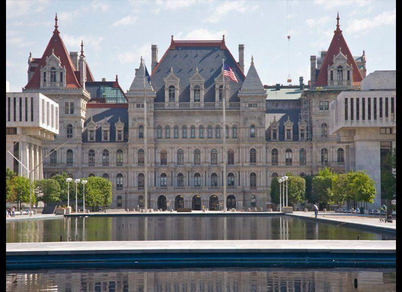 """<strong>NEW YORK STATE CAPITOL</strong> Albany, New York <strong>Year completed: </strong>1899 <strong>Architectural style:</strong> Italian Renaissance/French Renaissance/Romanesque <strong>FYI: </strong>The Western staircase inside New York's capitol has been dubbed the """"Million Dollar Staircase,"""" because it cost more than a million dollars to build—in the late-1800s, no less. The 444 steps took 14 years to complete, and more than 500 stonecutters and carvers earned $5 a day to work on the project. The staircase's main feature is 77 carvings of faces, which include prominent Americans such as Abraham Lincoln and Susan B. Anthony, as well as images of the carvers' friends and relatives. <strong>Visit:</strong> Guided tours are available Monday to Friday (excluding holidays). Tour times vary; call the Office of General Services—Visitor Assistance for more information."""