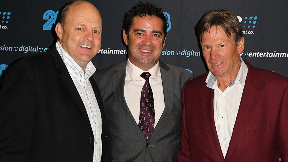Billy Brownless, Garry Lyon and Sam Newman, pictured here in 2013.