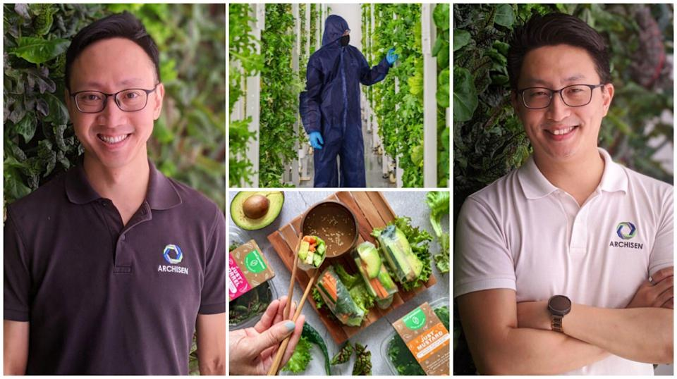 IT wiz or farmer? Why not both! Meet Vincent Wei (left) and Sven Yeo, the founders of local agritech startup Archisen, who are leveraging on technology to yield up to 100 tonnes of vegetables in Singapore a year.