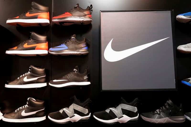 FILE PHOTO: FILE PHOTO: Nike shoes are seen on display in New York