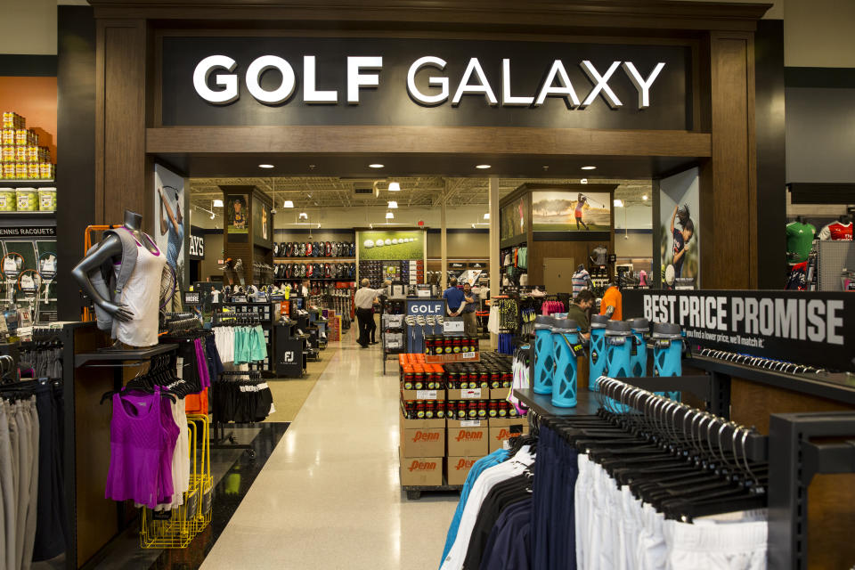 The interior entrance of Golf Galaxy as seen from the new DICK'S Sporting Goods at Baybrook Mall in Friendswood, Texas on Tuesday, October 18, 2016. The Golf Galaxy store is one of two new locations now open for business in the Houston area. (Photo by Scott Dalton/Invision for DICK'S Sporting Goods/AP Images)